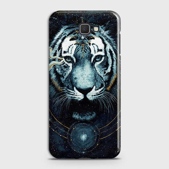 Samsung Galaxy J7 Prime 2 Cover - Vintage Galaxy Tiger Printed Hard Case with Life Time Colors Guarantee - OrderNation