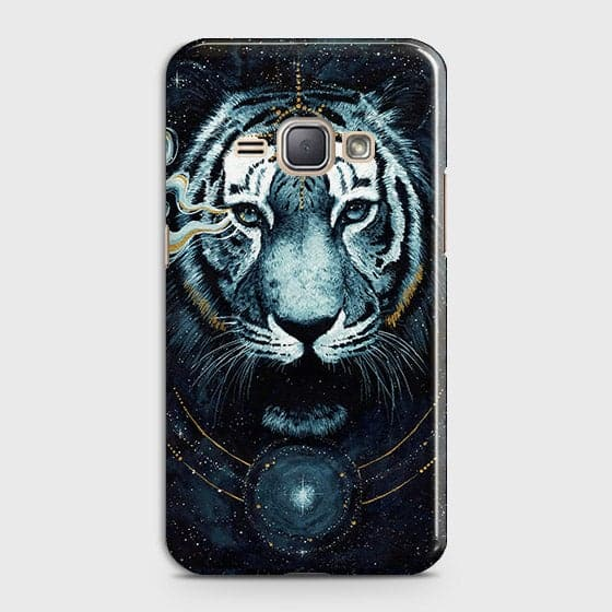 Samsung Galaxy J1 2016 / J120 Cover - Vintage Galaxy Tiger Printed Hard Case with Life Time Colors Guarantee - OrderNation