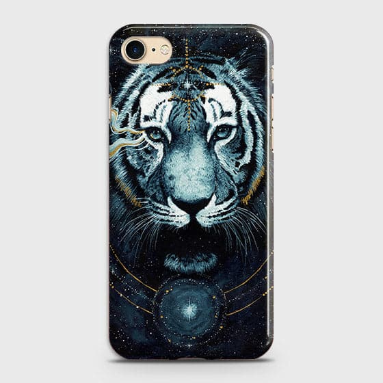 Vintage Galaxy 3D Tiger  Case For iPhone 7 & iPhone 8