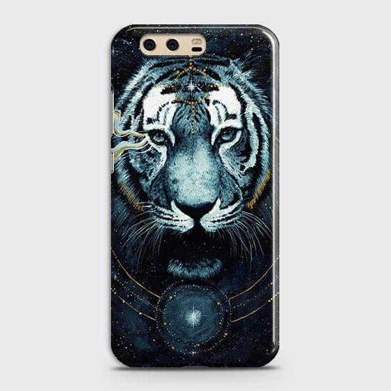 Huawei P10 Plus Cover - Vintage Galaxy Tiger Printed Hard Case with Life Time Colors Guarantee - OrderNation