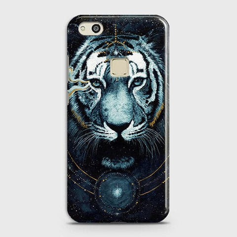 Huawei P10 Lite Cover - Vintage Galaxy Tiger Printed Hard Case with Life Time Colors Guarantee - OrderNation