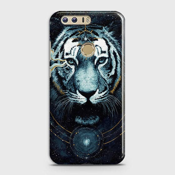 Huawei Honor 8 Cover - Vintage Galaxy Tiger Printed Hard Case with Life Time Colors Guarantee - OrderNation
