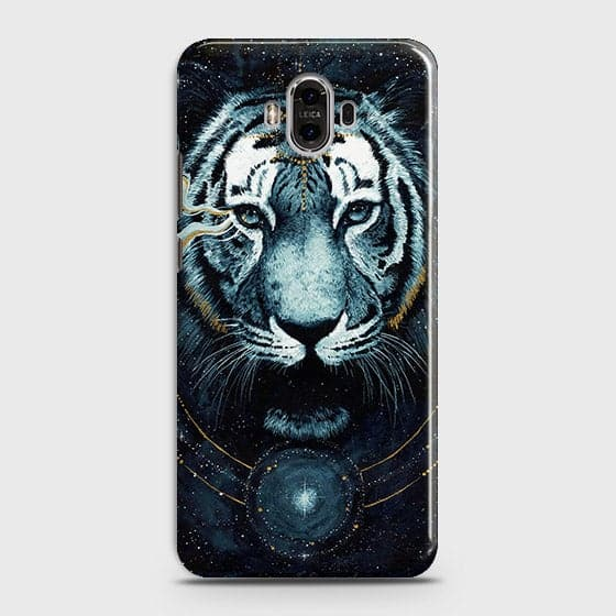 Huawei Mate 9 Cover - Vintage Galaxy Tiger Printed Hard Case with Life Time Colors Guarantee - OrderNation