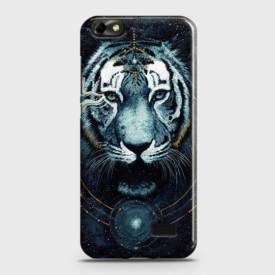 Huawei Honor 4C Cover - Vintage Galaxy Tiger Printed Hard Case with Life Time Colors Guarantee - OrderNation