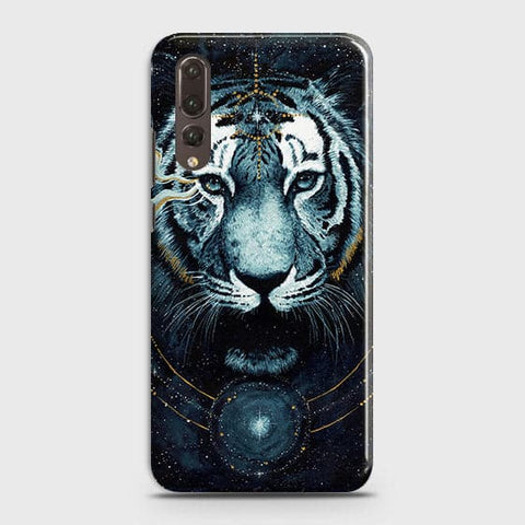Huawei P20 Pro Cover - Vintage Galaxy Tiger Printed Hard Case with Life Time Colors Guarantee - OrderNation