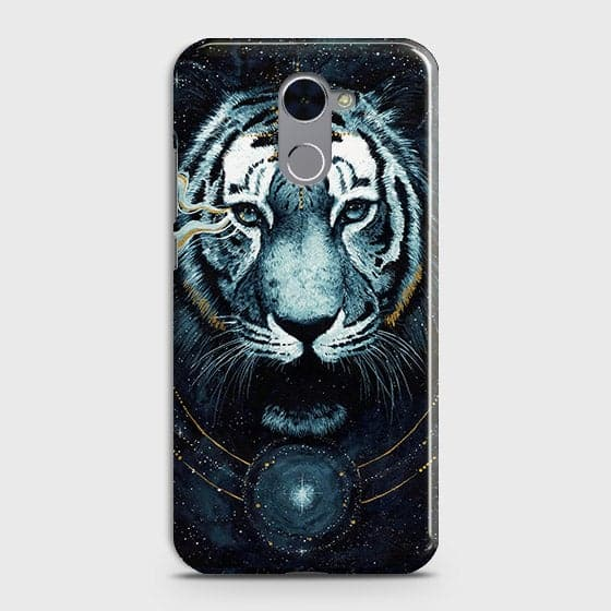 Vintage Galaxy 3D Tiger  Case For Huawei Y7 Prime