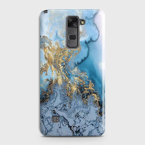 LG Stylus 2 / Stylus 2 Plus / Stylo 2 / Stylo 2 Plus - Trendy Golden & Blue Ocean Marble Printed Hard Case with Life Time Colors Guarantee
