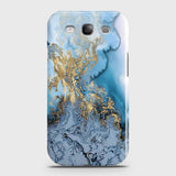 Printed Trendy Golden & Blue Ocean Marble Case with Life Time Color Guarantee For Samsung Galaxy S3 - OrderNation