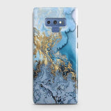 3D Trendy Golden & Blue Ocean Marble Case For Samsung Galaxy Note 9