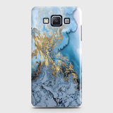 3D Trendy Golden & Blue Ocean Marble Case For Samsung Galaxy A5 2015