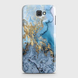 3D Trendy Golden & Blue Ocean Marble Case For Samsung Galaxy J7 Prime