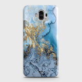 3D Trendy Golden & Blue Ocean Marble Case For Huawei Mate 9