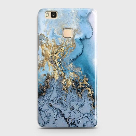 3D Trendy Golden & Blue Ocean Marble Case For Huawei P9 Lite