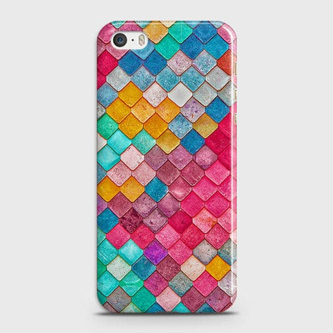 iPhone 5 & iPhone SE Cover - Chic Colorful Mermaid Printed Hard Case with Life Time Colors Guarantee