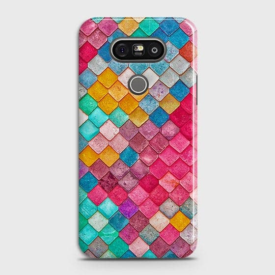 LG G5 Cover - Chic Colorful Mermaid Printed Hard Case with Life Time Colors Guarantee