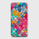 LG Q7 Cover - Chic Colorful Mermaid Printed Hard Case with Life Time Colors Guarantee