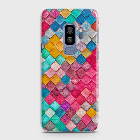 Samsung Galaxy S9 Plus Cover - Chic Colorful Mermaid Printed Hard Case with Life Time Colors Guarantee