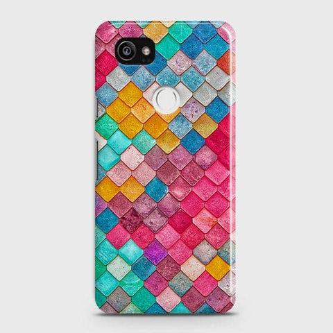 Chic Colorful Mermaid 3D Case For Google Pixel 2 XL