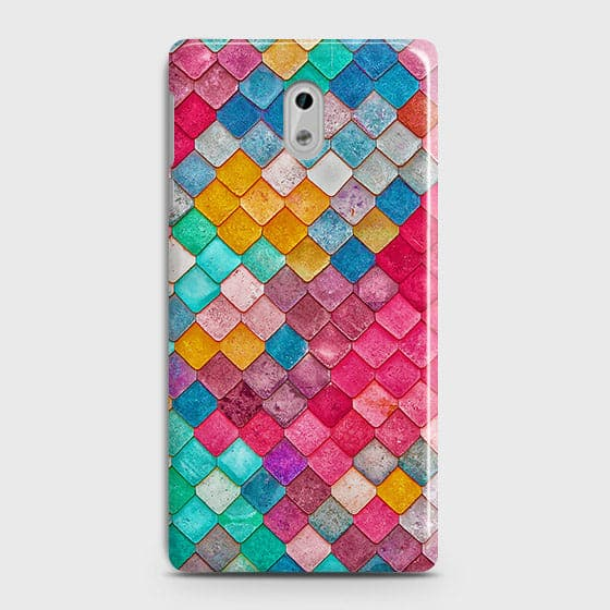 Nokia 3 Cover - Chic Colorful Mermaid Printed Hard Case with Life Time Colors Guarantee