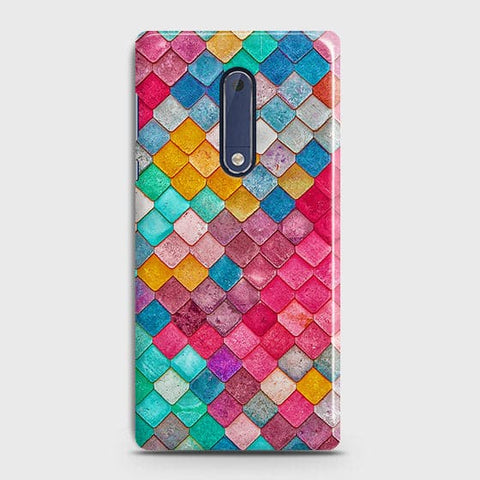 Chic Colorful Mermaid 3D Case For Nokia 5