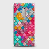 Nokia 6.1 Cover - Chic Colorful Mermaid Printed Hard Case with Life Time Colors Guarantee