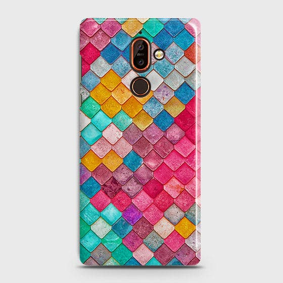 Nokia 7 Plus Cover - Chic Colorful Mermaid Printed Hard Case with Life Time Colors Guarantee