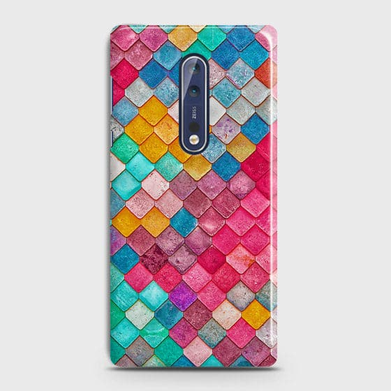 Chic Colorful Mermaid 3D Case For Nokia 8
