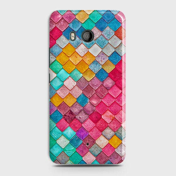 HTC U11 Cover - Chic Colorful Mermaid Printed Hard Case with Life Time Colors Guarantee