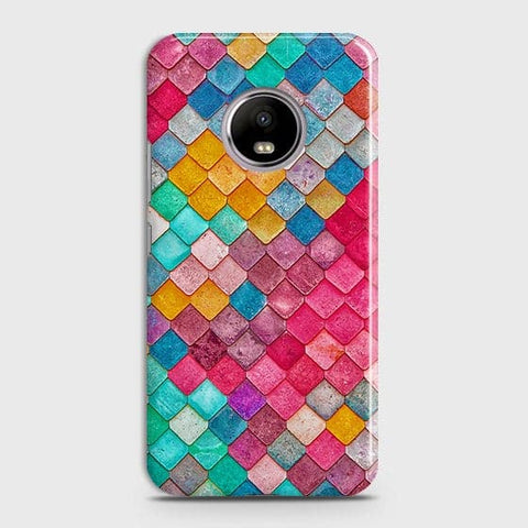 Motorola E4 Plus Cover - Chic Colorful Mermaid Printed Hard Case with Life Time Colors Guarantee