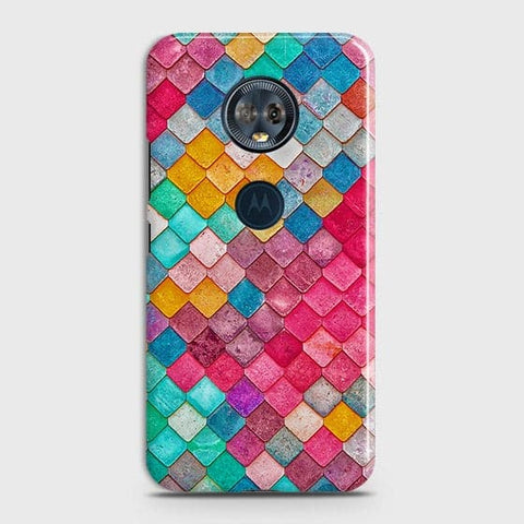 Motorola E5 Plus Cover - Chic Colorful Mermaid Printed Hard Case with Life Time Colors Guarantee