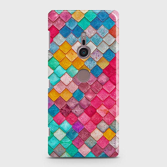 Chic Colorful Mermaid 3D Case For Sony Xperia XZ2
