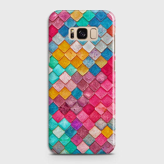 Samsung Galaxy S8 Cover - Chic Colorful Mermaid Printed Hard Case with Life Time Colors Guarantee