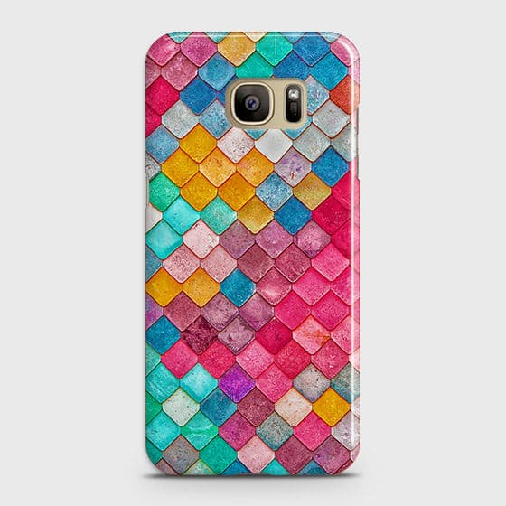 Samsung Galaxy S7 Cover - Chic Colorful Mermaid Printed Hard Case with Life Time Colors Guarantee