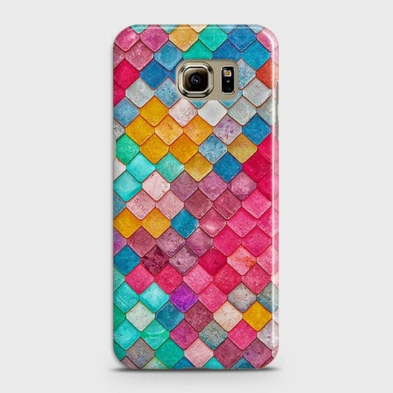 Samsung Galaxy S6 Cover - Chic Colorful Mermaid Printed Hard Case with Life Time Colors Guarantee