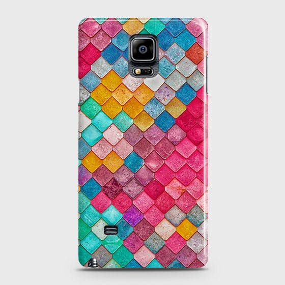 Samsung Galaxy Note 4 Cover - Chic Colorful Mermaid Printed Hard Case with Life Time Colors Guarantee