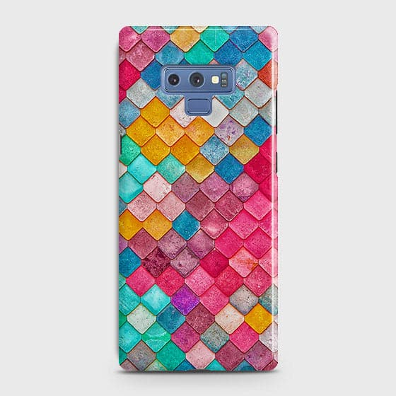 Samsung Galaxy Note 9 Cover - Chic Colorful Mermaid Printed Hard Case with Life Time Colors Guarantee