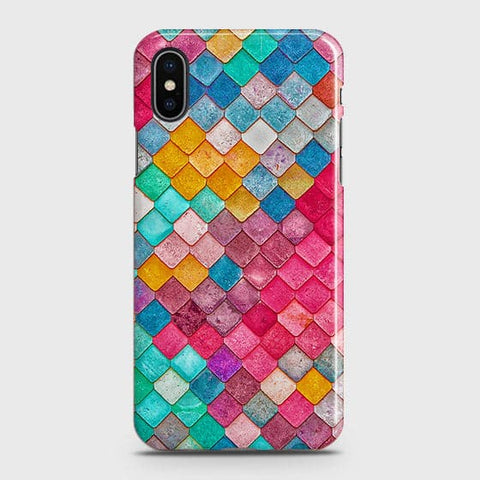 Chic Colorful Mermaid 3D Case For iPhone XS Max