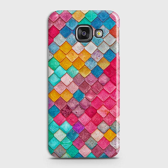 Samsung Galaxy A510 (A5 2016) Cover - Chic Colorful Mermaid Printed Hard Case with Life Time Colors Guarantee