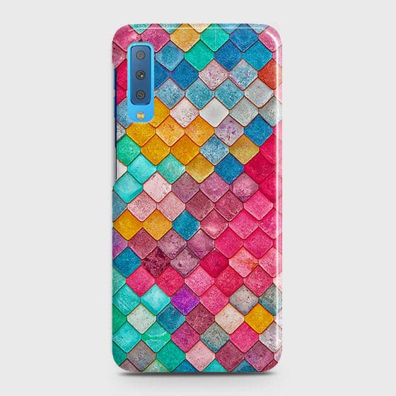 Chic Colorful Mermaid 3D Case For Samsung A7 2018