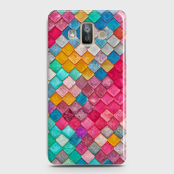 Samsung Galaxy J7 Duo Cover - Chic Colorful Mermaid Printed Hard Case with Life Time Colors Guarantee
