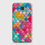 Samsung C7 Pro Cover - Chic Colorful Mermaid Printed Hard Case with Life Time Colors Guarantee