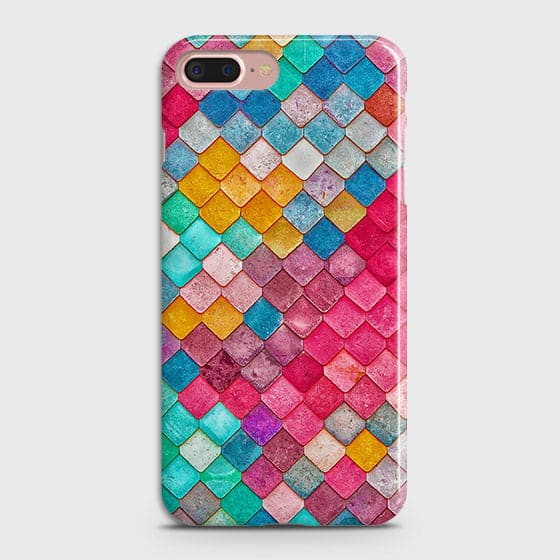 iPhone 7 Plus & iPhone 8 PlusCover - Chic Colorful Mermaid Printed Hard Case with Life Time Colors Guarantee