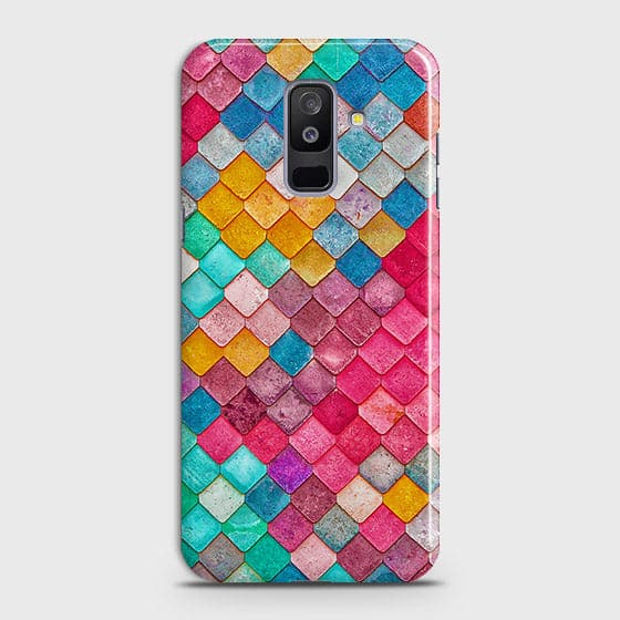 Samsung A6 Plus 2018 Cover - Chic Colorful Mermaid Printed Hard Case with Life Time Colors Guarantee