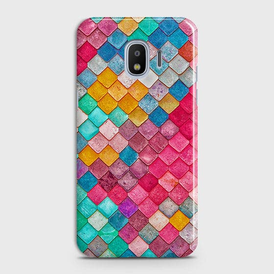 Samsung Galaxy J4 Cover - Chic Colorful Mermaid Printed Hard Case with Life Time Colors Guarantee