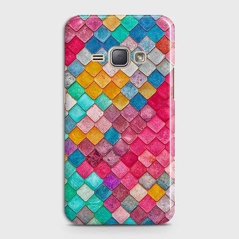 Chic Colorful Mermaid 3D Case For Samsung Galaxy J1 2016 / J120