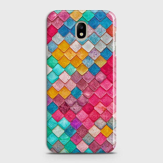 Samsung Galaxy J7 2018 Cover - Chic Colorful Mermaid Printed Hard Case with Life Time Colors Guarantee