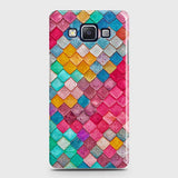 Samsung Galaxy E5 Cover - Chic Colorful Mermaid Printed Hard Case with Life Time Colors Guarantee