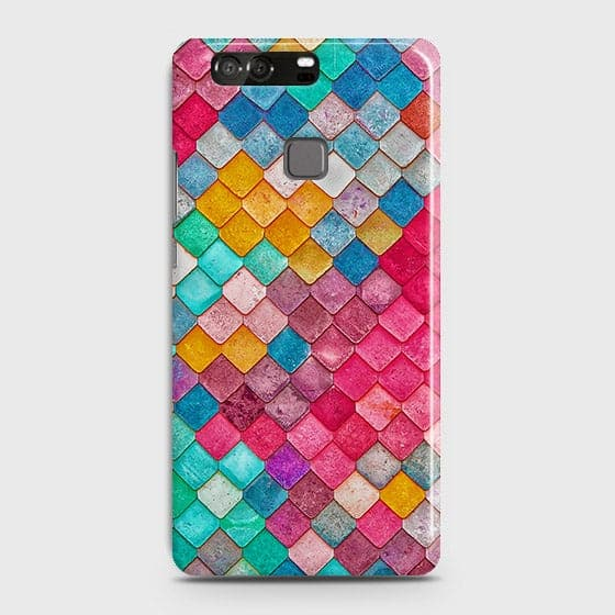Huawei P9 Cover - Chic Colorful Mermaid Printed Hard Case with Life Time Colors Guarantee