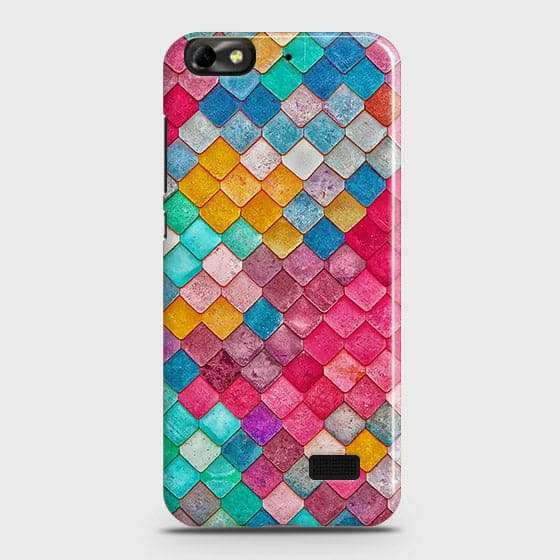 Huawei Honor 4C Cover - Chic Colorful Mermaid Printed Hard Case with Life Time Colors Guarantee