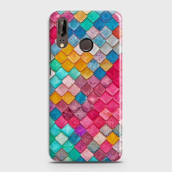 Huawei P20 Cover - Chic Colorful Mermaid Printed Hard Case with Life Time Colors Guarantee